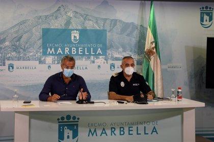 La Policía Local de Marbella levanta 16 actas en establecimientos por incumplir medidas contra el COVID