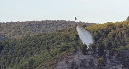 Casi 100 efectivos siguen trabajando para controlar el incendio de Olvera (Cádiz)