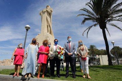 """El PP celebra con una ofrenda ante el Monumento a Colón el 3 de agosto, """"principal seña de identidad"""" de Huelva"""