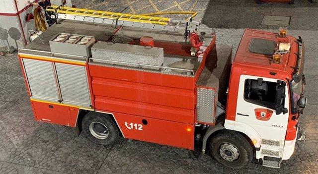 Coche de bomberos en Melilla