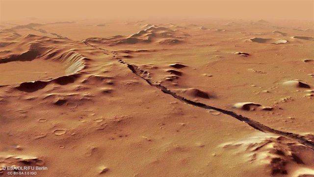 Imagen de Marte captada por el orbitador Mars Express de la ESA
