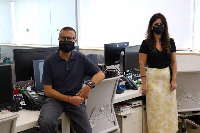 El director científic del Programa de Prevenció de l'Alzheimer del BBRC, Jose Luis Molinuevo, i la doctora Eider Arenaza-Urquijo, que han participat en l'estudi