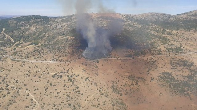 Declarado un incendio en Robledo de Chavela