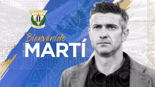 Fútbol.- José Luis Martí, nuevo entrenador del CD Leganés