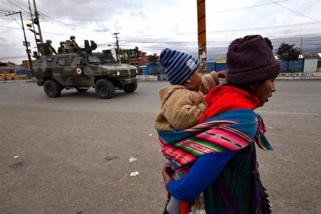 El Alto, en Bolivia, durante la pandemia de coronavirus.