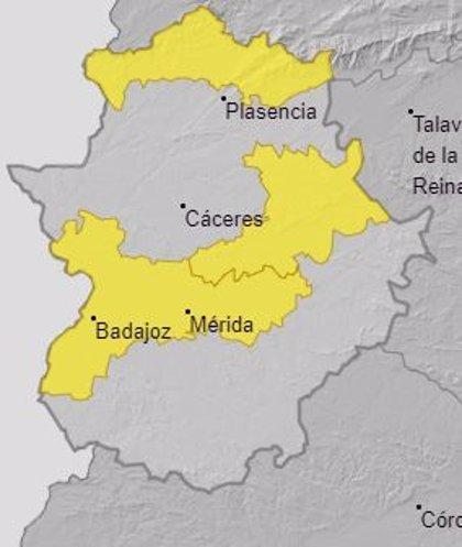 Las Vegas del Guadiana, el norte de Cáceres y Villuercas y Montánchez, en alerta amarilla este martes por calor