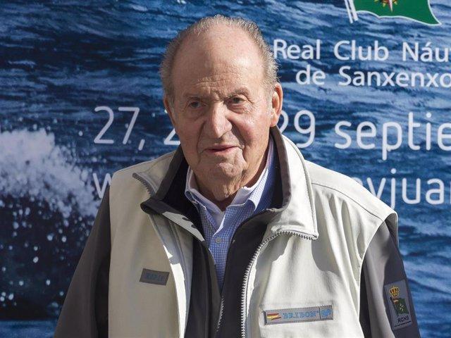 El Rey Don Juan Carlos, en una imagen de archivo en Sanxenxo