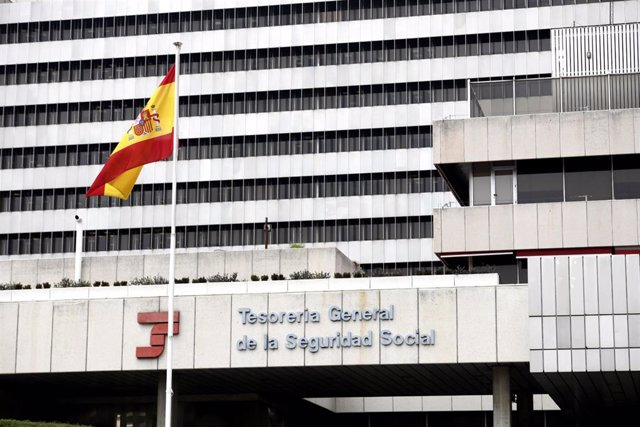 Edificio de la sede de la Tesorería General de la Seguridad Social, en Madrid (España), a 6 de febrero de 2020.