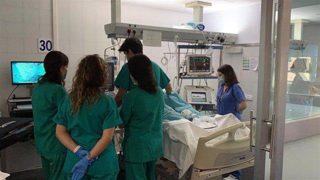 Profesionales en el Hospital Regional de Málaga donde se ha utilizado la técnica ECMO de conexión extracorpórea para estabilizar a cinco pacientes críticos