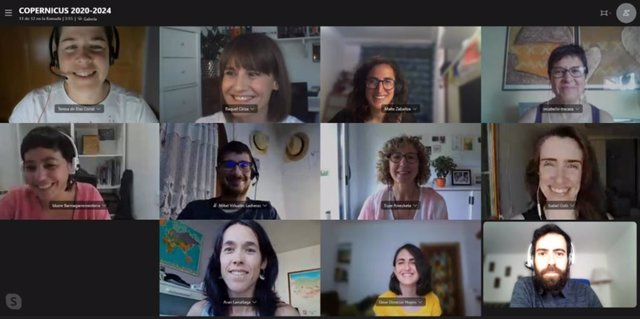 Reunión virtual de parte del equipo de Tracasa que trabaja en el proyecto