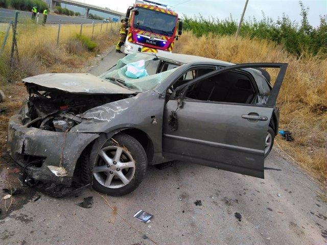 Accidente con atrapado en Cehegín