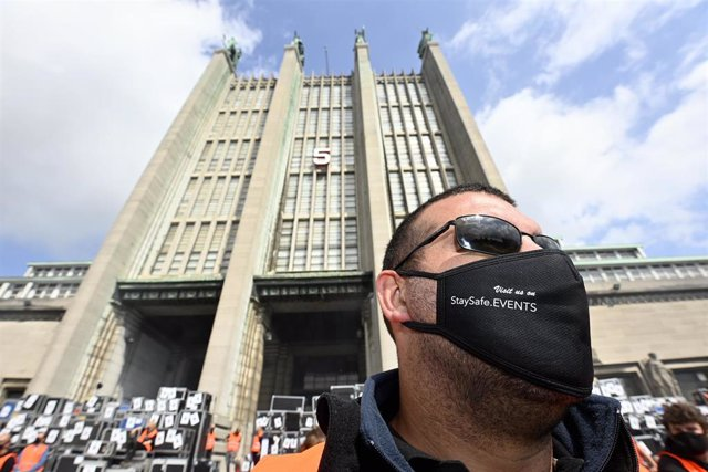 Protesta por el impacto económico del coronavirus en Bruselas