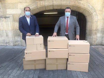 La Diputación de León recibe 3.500 mascarillas de la FEMP