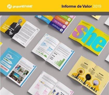 Hefame recoge su compromiso con la sostenibilidad, la conciencia social y trabajo en equipo en su Informe de Valor 2019