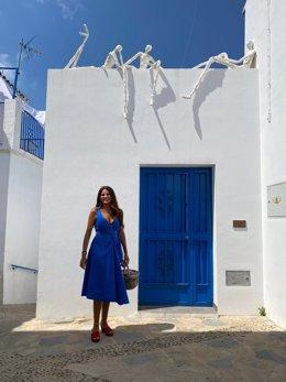 La delegada territorial de Turismo, Regeneración, Justicia y Administración Local de la Junta de Andalucía, Nuria Rodríguez, en los XV Encuentros de Arte de Genalguacil
