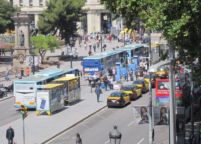 Aerobus, autobusos a l'Aeroport de Barcelona