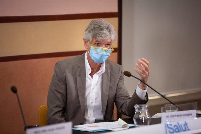 El secretari de Salut Pública de la Generalitat, Josep Maria Argimon, presenta les línies estratègiques del pla de control del Covid-19 en la Conselleria de Sanitat, a Barcelona, Catalunya (Espanya), a 28 de juliol de 2020.