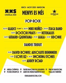El Cruïlla XXS de Barcelona sumeixi a Miki Núñez, Ítaca Band, Doctor Prats i Gerard Quintana (arxiu)