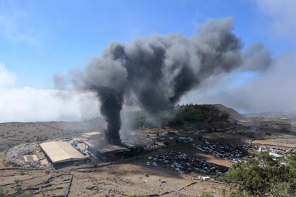 Dan por controlado el incendio del Centro Ambiental de El Majano