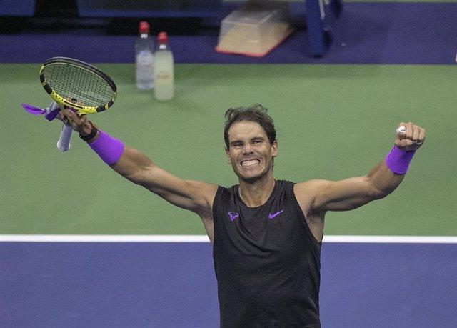 Rafa Nadal celebrando la consecución del US Open 2019