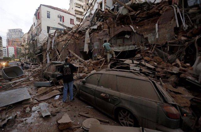 Líbano.- Más de cien muertos y unos 4.000 heridos por las explosiones en el puer