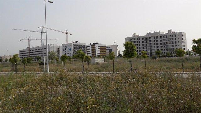 Imagen de la parcela que la Consejería de Fomento ofertará en Córdoba a promotores privados a cambios de viviendas.