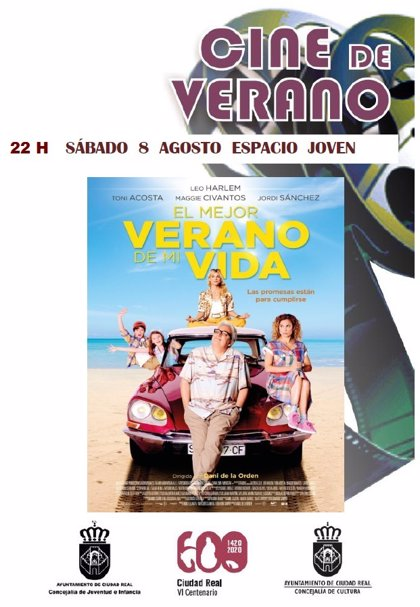 El Cine de Verano de Ciudad Real proyecta este sábado 'El mejor verano de mi vida'