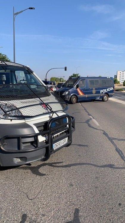 Cortada una vía en Albacete y activado dispositivo policial tras marcharse del IFAB varias personas confinadas