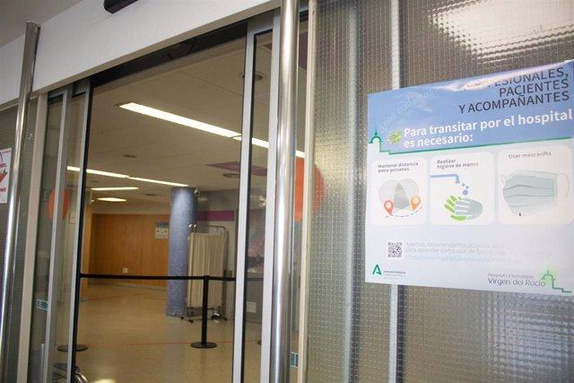 Foto de recurso del interior de un hospital en Andalucía.