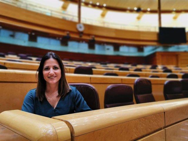 La portavoz de Educación del PSOE en el Senado, Inés Plaza.