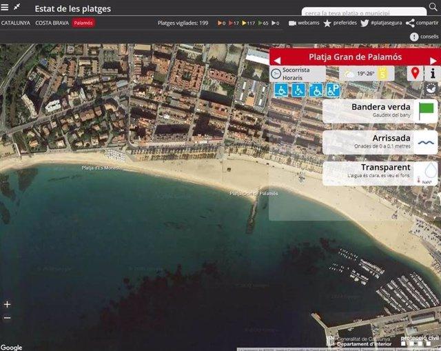 La platja Gran de Palamós (Girona)