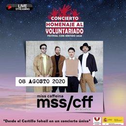 Cartel del Festival 'Música ConSentido' de la Plataforma del Voluntariado de España