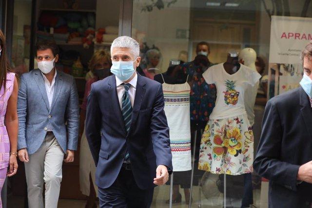 El ministro del Interior, Fernando Grande-Marlaska, en un acto reciente por el día internacional contra la trata