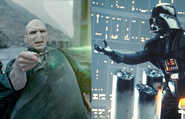 Voldemort y Darth Vader, villanos de Harry Potter y Star Wars