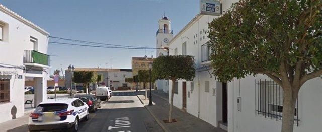 Calle en la que se registró el suceso en San Antonio de Benagéber