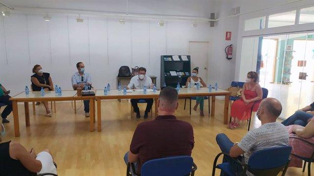 Psoe Almería. Nota Y Forografía Sánchez Haro. Encuentro Alcaldes Levante. Covid19
