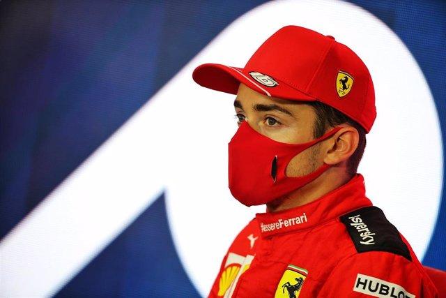 Charles Leclerc durante el Gran Premio de Gran Bretaña 2020