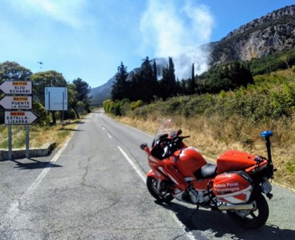 Estabilizado un incendio declarado en Etxauri, que ha quemado arbolado