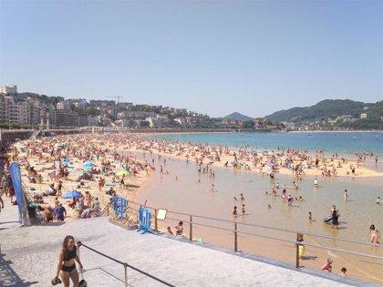 Julio ha sido seco y cálido en Euskadi, igualando San Sebastián la temperatura más alta desde 1928 con 39 grados
