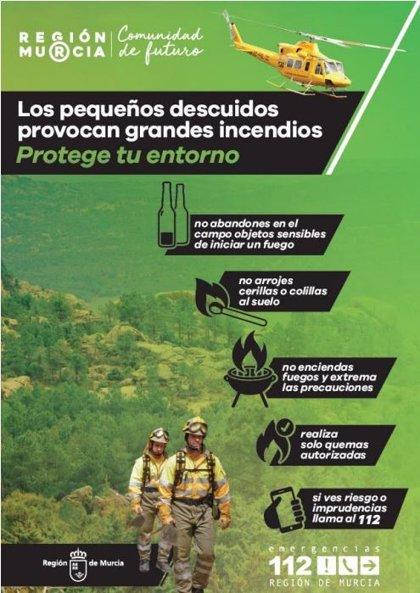 Nivel de riesgo de incendio forestal este jueves es muy alto en toda la Región, excepto en el litoral Este que es alto