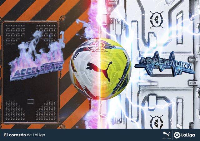 Fútbol.- LaLiga y 'Puma' presentan el 'Accelerate' y el 'Adrenalina', los balone