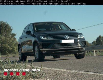 Denunciado un conductor por circular a 184 kilómetros por hora en Agramunt (Lleida)