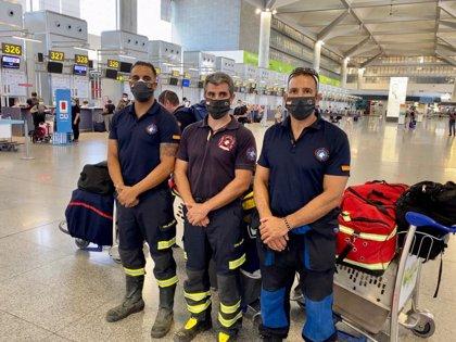 Tres bomberos del CPB de Málaga acuden a Beirut para colaborar en las tareas de búsqueda y rescate de supervivientes