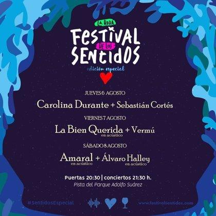 El Festival de Los Sentidos arranca este jueves con Sebastián Cortés y Carolina Durante