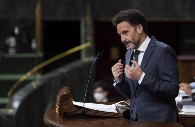 El portavoz adjunto de Ciudadanos en el Congreso de los Diputados, Edmundo Bal, interviene desde la tribuna en una sesión plenaria en el Congreso, en Madrid (España), a 29 de julio de 2020.