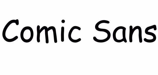 Fuente Comic Sans.