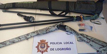 La Policía Local de Logroño localiza y denuncia a un cazador furtivo en El Cortijo