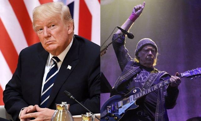 """Neil Young demanda a Trump por usar sin permiso sus canciones en una campaña electoral """"llena de ignorancia y odio"""""""