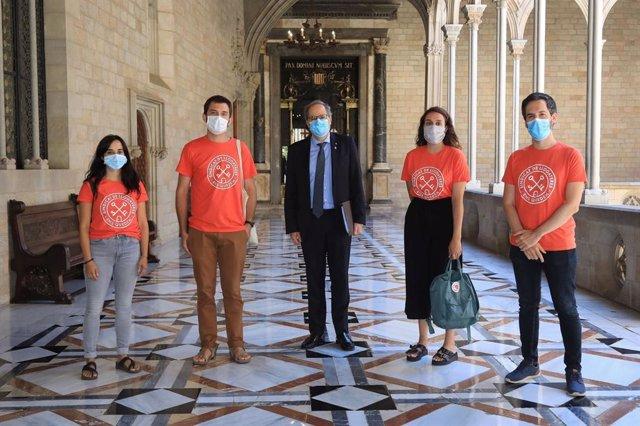 El Sindicat de Llogaters es reuneix amb el president de la Generalitat, Quim Torra.