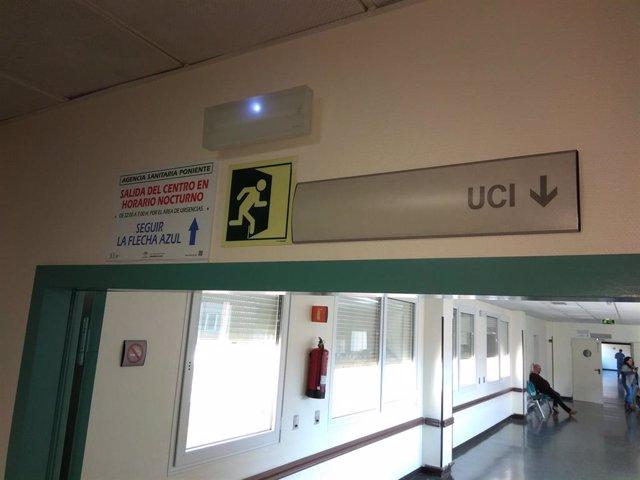 Acceso a la UCI en un hospital de Almería